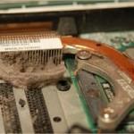 Bụi bám kín vào khu vực gắn CPU