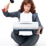 woman kills printer